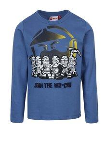 Modré chlapčenské tričko s dlhým rukávom Lego Wear Teo