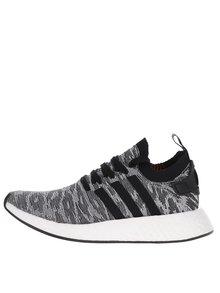 Černo-bílé pánské žíhané tenisky adidas Originals NMD