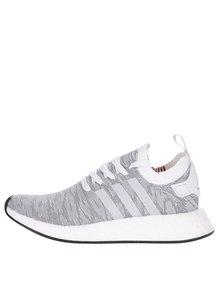 Bílo-šedé pánské vzorované tenisky adidas Originals NMD
