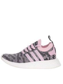 Pantofi sport gri cu roz pentru femei adidas Originals NMD