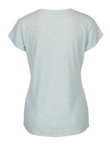 Světle zelené žíhané tričko s příměsí lnu Jacqueline de Yong Bolette