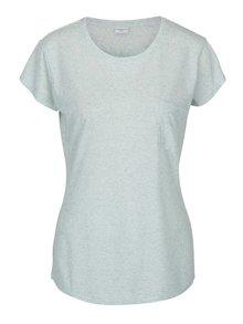 Svetlozelené melírované tričko s prímesou ľanu Jacqueline de Yong Bolette