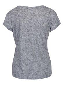 Tmavomodré melírované tričko s prímesou ľanu Jacqueline de Yong Bolette