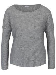 Sivý melírovaný rebrovaný sveter Jacqueline de Yong Mei