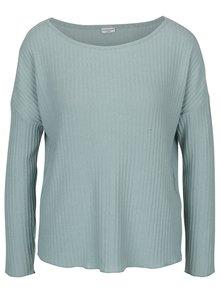 Mentolový rebrovaný sveter Jacqueline de Yong Mei