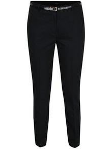 Černé kalhoty s páskem VERO MODA Roos