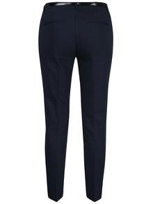 Tmavě modré kalhoty s páskem VERO MODA Roos
