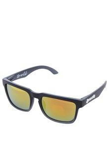 Černé sluneční brýle Meatfly