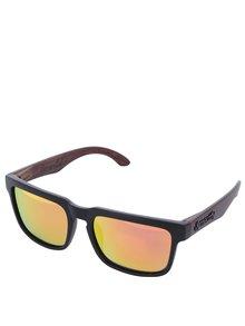 Hnědo-černé pánské sluneční brýle Meatfly