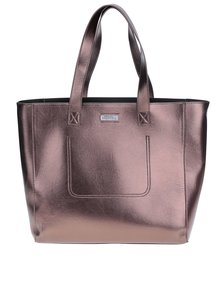 Geantă shopper bronz metalic aspect 2 în 1 - Superdry Elaina