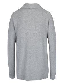 Svetlosivý sveter s asymetrickým zapínaním VERO MODA Anna