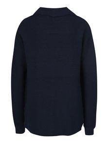 Tmavomodrý sveter s asymetrickým zapínaním VERO MODA Anna