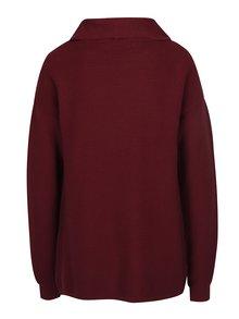 Vínový sveter s asymetrickým zapínaním VERO MODA Anna