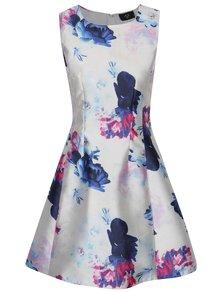 Svetloružové kvetované puzdrové šaty bez rukávov AX Paris