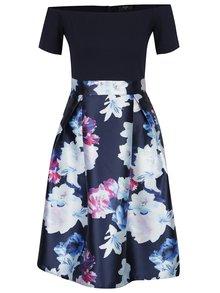 Rochie albastră cu flori și aspect 2 în 1 - AX Paris