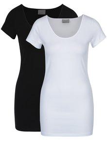 Súprava dvoch basic tričiek v čiernej a bielej farbe VERO MODA Maxi