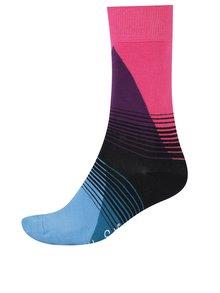 Ružovo-modré pánske vzorované ponožky Happy Socks 80's Fade