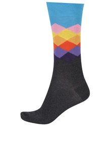 Șosete multicolore cu romburi Happy Socks Faded Diamond
