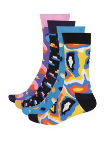 Set cu 4 perechi de șosete cu imprimeu pentru bărbați Happy Socks Pop