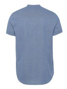 Modrá melírovaná košeľa s vreckom Burton Menswear London