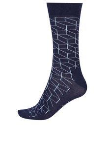 Tmavomodré pánske vzorované ponožky Happy Socks Optic