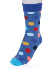 Șosete albastre cu buline Happy Socks Big Dot