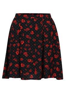 Černo-červená sukně s vlčími máky Dorothy Perkins