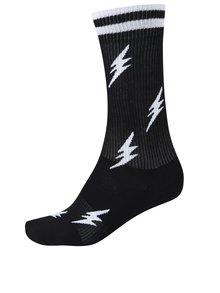 Čierne pánske vzorované ponožky Happy Socks Athletic Flash