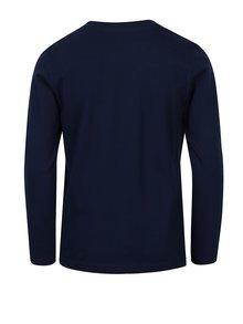 Tmavomodré chlapčenské tričko s dlhým rukávom 5.10.15.