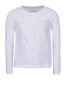 Biele dievčenské tričko s dlhým rukávom 5.10.15.