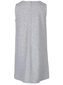 Sivé melírované dievčenské šaty s plastickými detailmi kvetov 5.10.15.