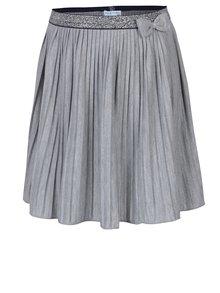 Sivá dievčenská plisovaná sukňa s mašľou 5.10.15.