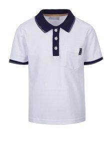 Bílé klučičí polo triko s tmavě modrými detaily 5.10.15.