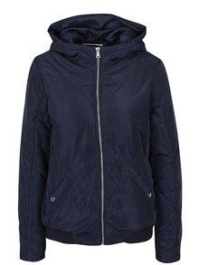 Tmavě modrá prošívaná bunda s kapucí Noisy May Mirja