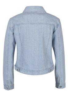 Světle modrá džínová bunda s volány Miss Selfridge