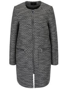 Čierno-krémový vzorovaný tenký kabát Dorothy Perkins