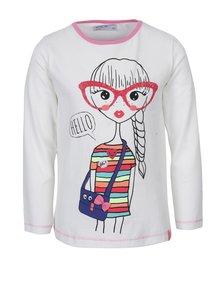 Bluză albă cu print pentru fete - 5.10.15.
