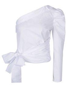 Bluză albă asimetrică cu fundă - Miss Selfridge