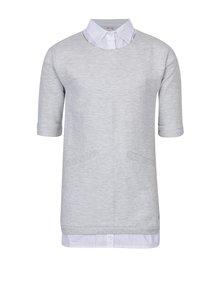 Sivé dievčenské šaty so všitou košeľou 5.10.15.