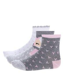 Set de 3 perechi de șosete cu print pentru fete -  5.10.15.