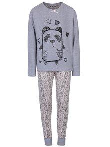 Růžovo-šedé holčičí pyžamo s motivem pandy 5.10.15.