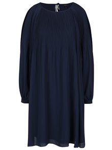 Tmavě modré šaty s průstřihy na ramenou VERO MODA View