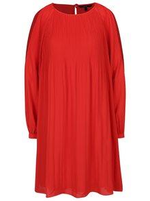 Červené šaty s průstřihy na ramenou VERO MODA View