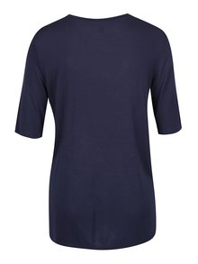 Tmavě modré tričko s volánem VERO MODA Jemia