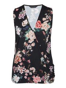Top negru cu model floral multicolor Dorothy Perkins