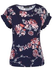 Tmavomodré kvetinové tričko Dorothy Perkins