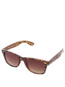 Černo-hnědé vzorované sluneční brýle Dorothy Perkins