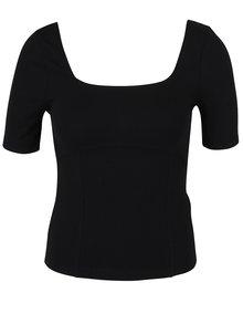 Bluză crop neagră cu decolteu amplu -  Miss Selfridge