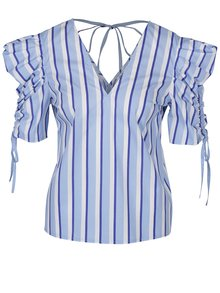 Bluză cu dungi albastru & alb - Miss Selfridge