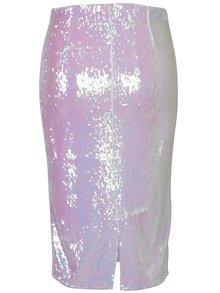 Svetloružová sukňa s flitrami Miss Selfridge